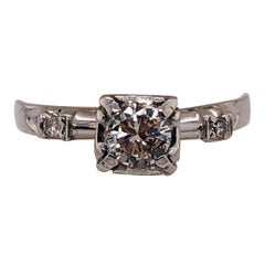 14 Karat White Gold Diamond Engagement Ring Bridal / Wedding