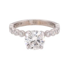 14 Karat White Gold Diamond Engagement Ring