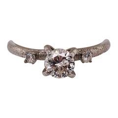 14 Karat White Gold Diamond Engagement Ring Wedding / Bridal