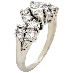 14 Karat White Gold Diamond Estate Ring