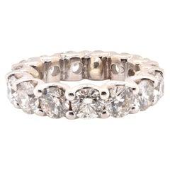 14 Karat White Gold Diamond Eternity Band
