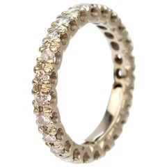 14 Karat White Gold and Diamond Eternity Band Wedding Ring