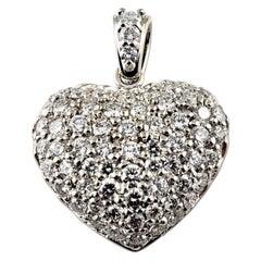 14 Karat White Gold Diamond Heart Pendant