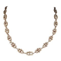 14 Karat White Gold Diamond Necklace Converted to Bracelet