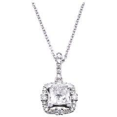 14 Karat White Gold Diamond Necklace