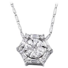 14 Karat White Gold Diamond Necklace