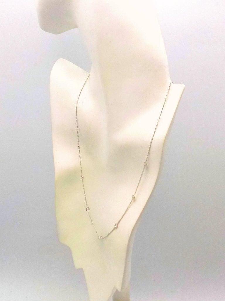 14 Karat White Gold Diamond Necklace...DBY...Diamonds by the Yard For Sale 1