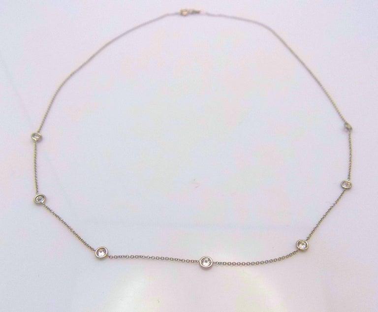 14 Karat White Gold Diamond Necklace...DBY...Diamonds by the Yard For Sale 2