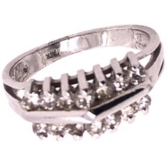 14 Karat White Gold Diamond Ring Wedding / Bridal / Anniversary