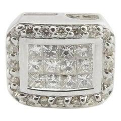 14 Karat White Gold Diamond Slide Pendant