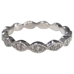 14 Karat White Gold Diamond Stack Able Eternity Ring