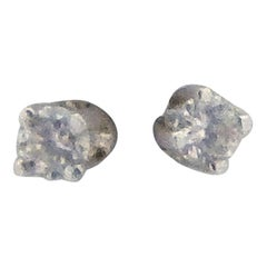 14 Karat White Gold Diamond Stud Earrings .12 Carat