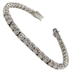 Diamond Tennis Bracelet 14 Karat White Gold