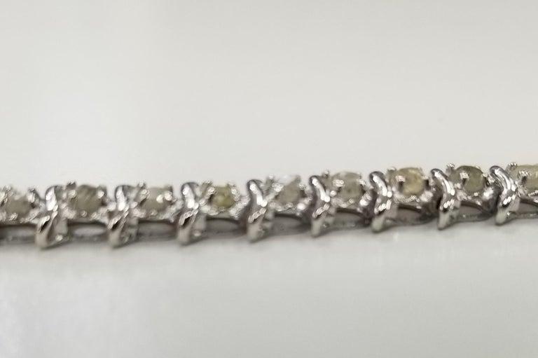 Contemporary 14 Karat White Gold Diamond