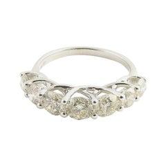 14 Karat White Gold Diamond Wedding Band 1.77 Carat