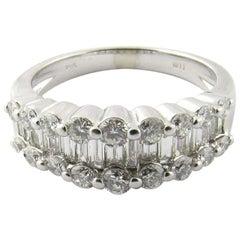 14 Karat White Gold Diamond Wedding Band