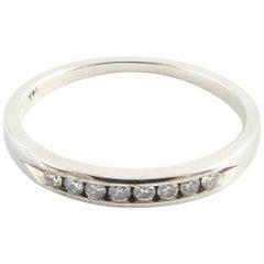 14 Karat White Gold Diamond Wedding Band Size 4.75