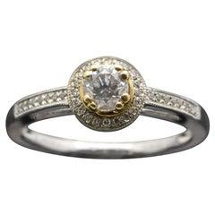 14 Karat White Gold Diamonds Ring