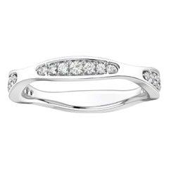 14 Karat White Gold Donna Marquise Shape Diamond Ring '1/4 Carat'