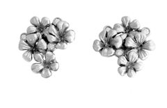 14 Karat White Gold Earrings by the Artist with Diamonds, Featured in Berlinale