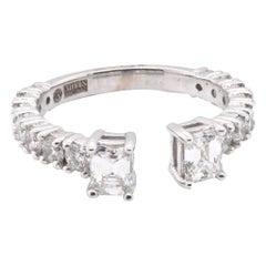 14 Karat White Gold Emerald Cut Diamond Ring