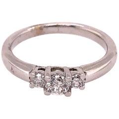 14 Karat White Gold Engagement Ring / Band 0.50 Total Diamond Weight