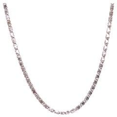 14 Karat White Gold Fancy Link Necklace