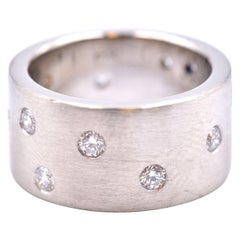 14 Karat White Gold Gauthier Diamond Bubble Band