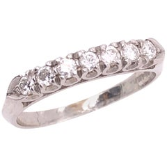 14 Karat White Gold Half Anniversary Diamond Bridal Wedding Ring Band