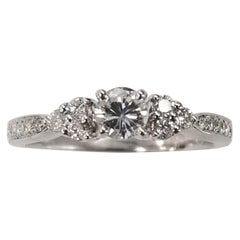 14 Karat White Gold Ladies Diamond Engagement Ring