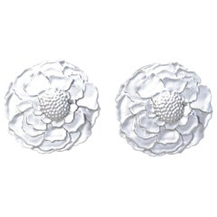 14 Karat White Gold Marigold Cufflinks