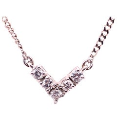 14 Karat White Gold Necklace with Diamond Pendant