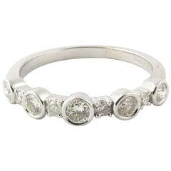 14 Karat White Gold Round Brilliant Diamond Ring