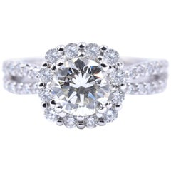 14 Karat White Gold Scott Kay 1.25 Carat Diamond Engagement Ring