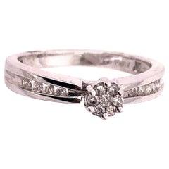 14 Karat White Gold Semi Mount Diamond Engagement Fashion Ring 0.53 TDW