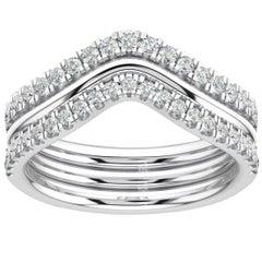 14 Karat White Gold Shila Petite Stackable Diamond Ring '2/5 Carat'