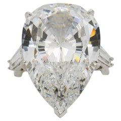 14 Karat White Gold Three-Stone Cubic Zirconium Ring