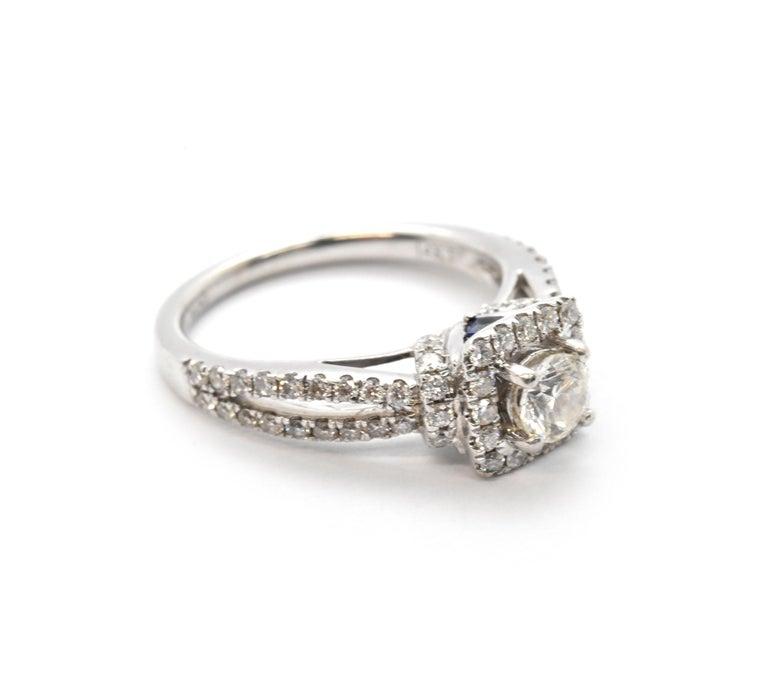 "14 Karat White Gold Vera Wang ""Love"" Collection Diamond"