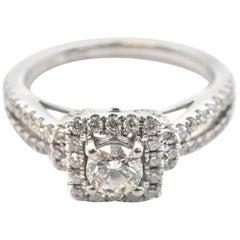 "14 Karat White Gold Vera Wang ""Love"" Collection Diamond Engagement Ring"