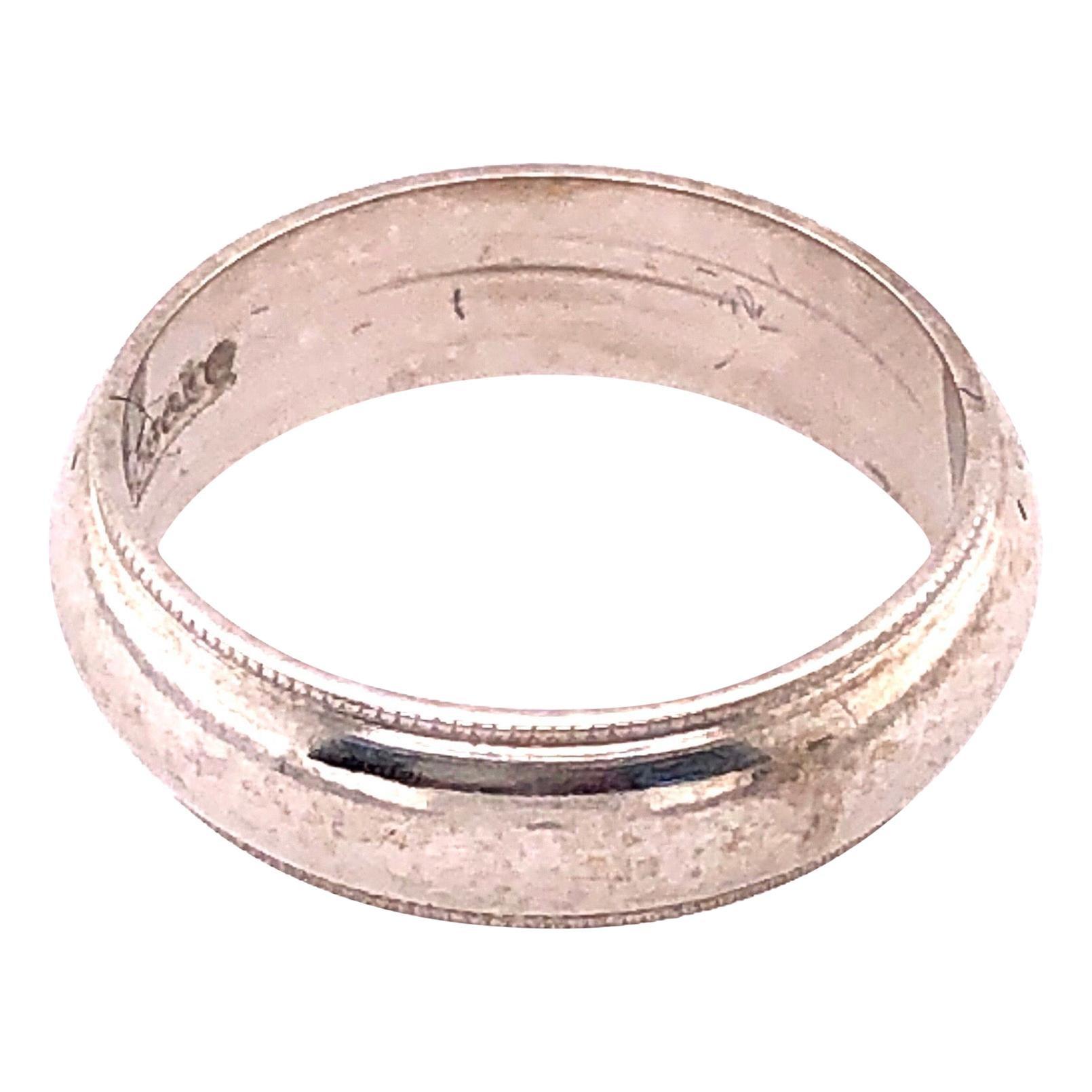 14 Karat White Gold Wedding Band Bridal Ring