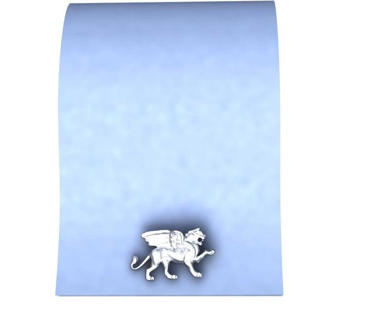 Platinum Winged Griffin Cufflinks For Sale 1