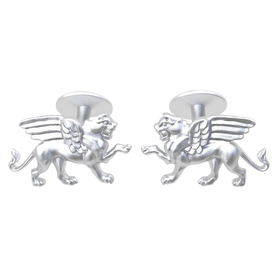 Platinum Winged Griffin Cufflinks