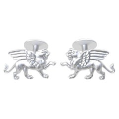 Platinum Winged Griffin Cufflinks
