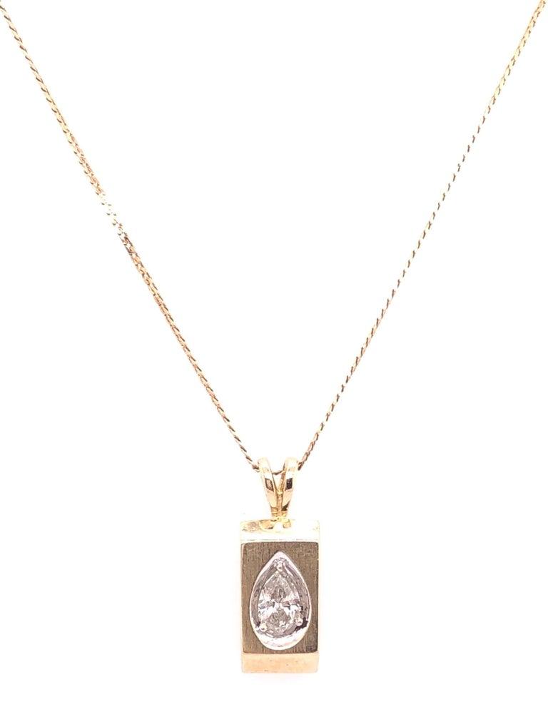 Modern 14 Karat Yellow Gold Pendant Necklace For Sale