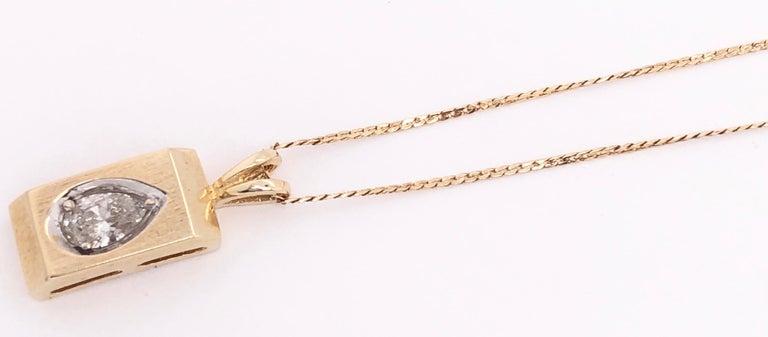 Women's or Men's 14 Karat Yellow Gold Pendant Necklace For Sale