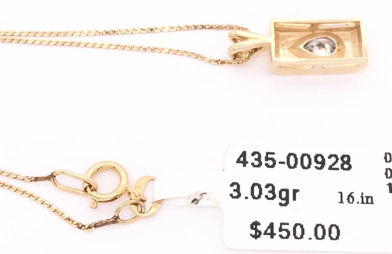 14 Karat Yellow Gold Pendant Necklace For Sale 3