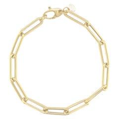 14 Karat Yellow Gold 3.20 Grams Link Paperclip Bracelet