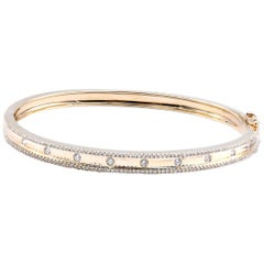 14 Karat Yellow Gold .62 Carat Diamond Bangle