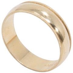 14 Karat Yellow Gold Accented Men's Wedding Band