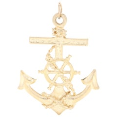 14 Karat Yellow Gold Anchor Charm / Pendant